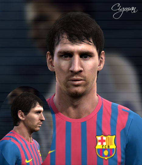 Lionel Messi Face by Cigman