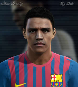 Alexis Sanchez face by Dato