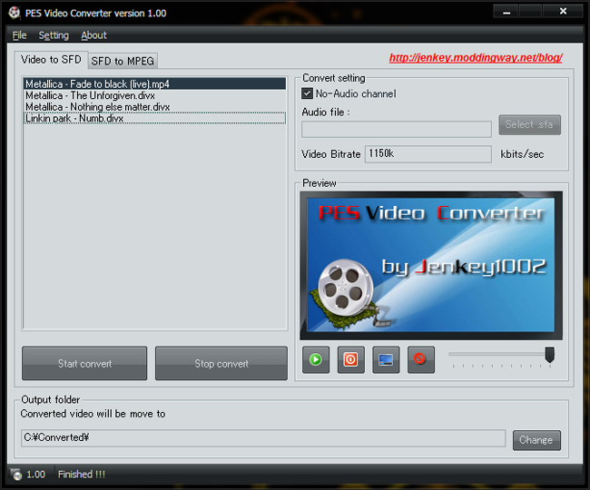 PES Video Converter v1.00 by jenkey1002