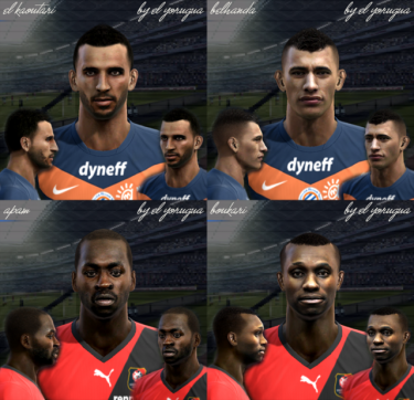 Faces Ligue 1 pack vol.1 by El Yorugua