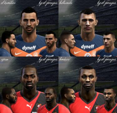Faces Ligue 1 pack vol.1 by El Yorugua