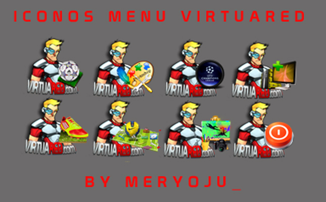 Iconos menu VirtuaRED by Meryoju_