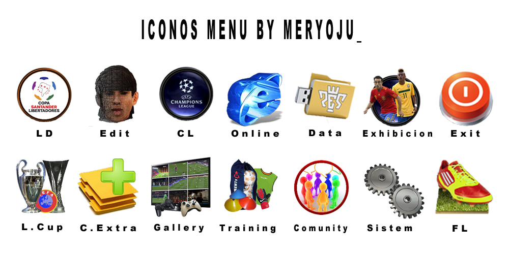 Iconos menu by Meryoju_