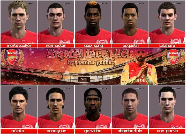 Arsenal Face Pack by shamrik_gunners