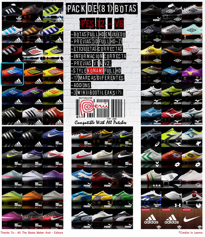 Pes 2013 Pc Edições Evolution: Pack De Botas HD By Nilton1248