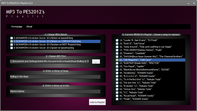 MP3 To PES2012 Playlist v2.0 by un.khung