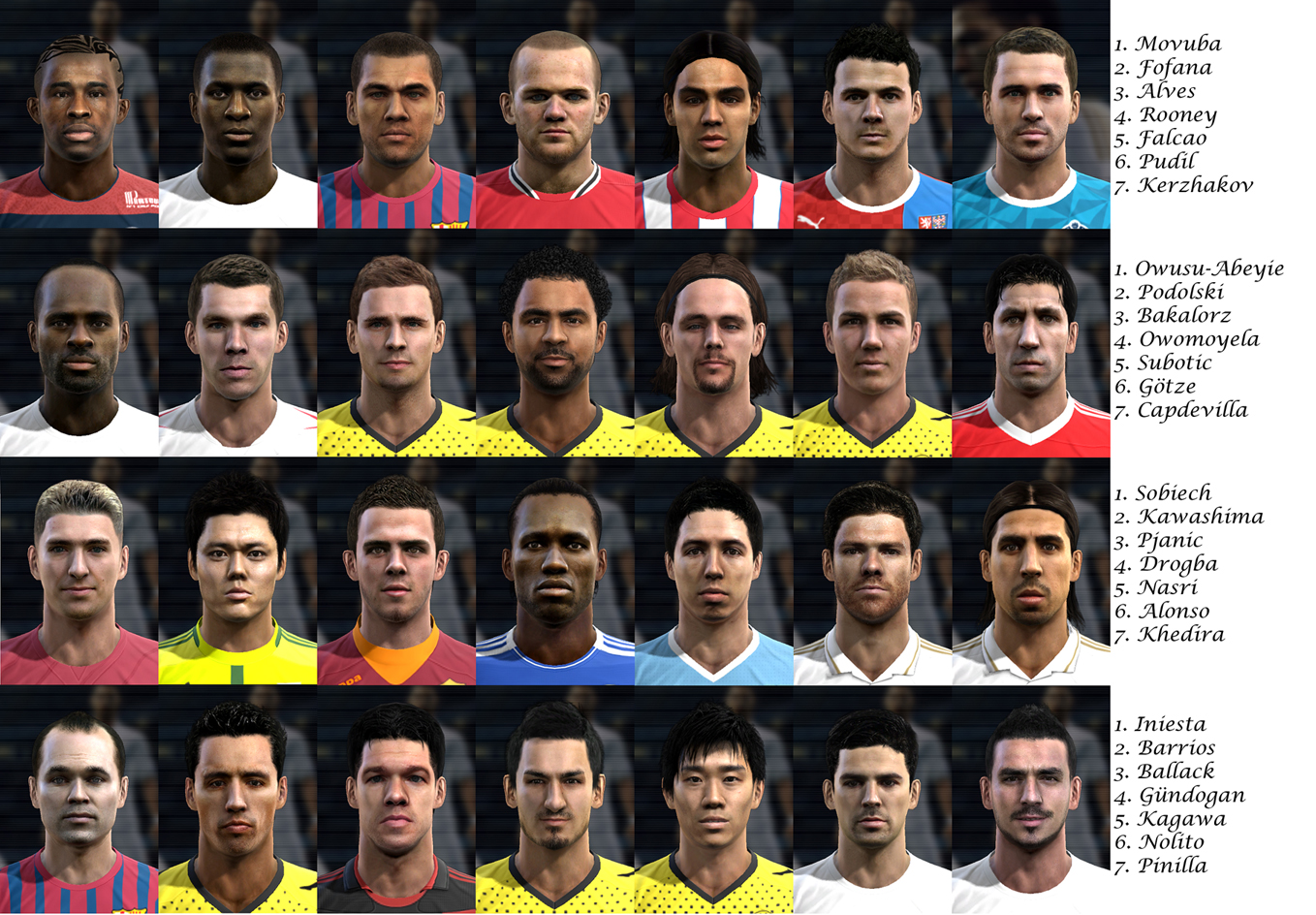 PES 2012 Facepack by sopel86lodz