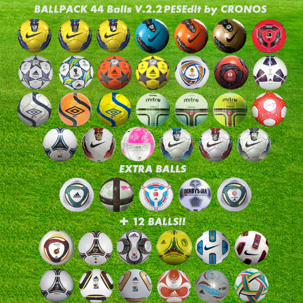 Ballpack 44 Balones v.2.2 PESEdit by Cronos