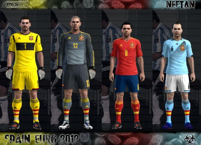 PES 2012 Spain EURO 2012 kit Set by NeFtaN