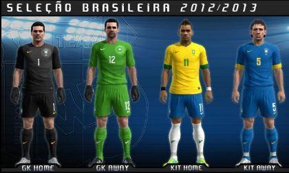 Kit Set Seleção Brasileira 12/13 by Mauricio Christmann
