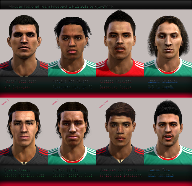 Mexican National Team Pack 1 by XchewX