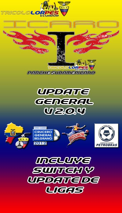 UPDATE GENERAL TricolorPES ICARO v2.0.4