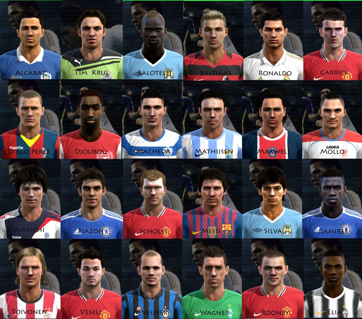 1st PES 2012 Facepack by Bebylover