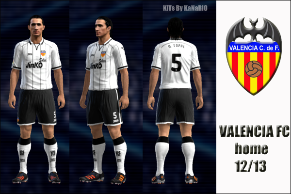 VALENCIA CF 12/13 home by KaNaRiO