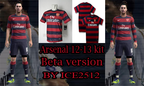 Arsenal 12/13 Away Kit GDB by ice2512