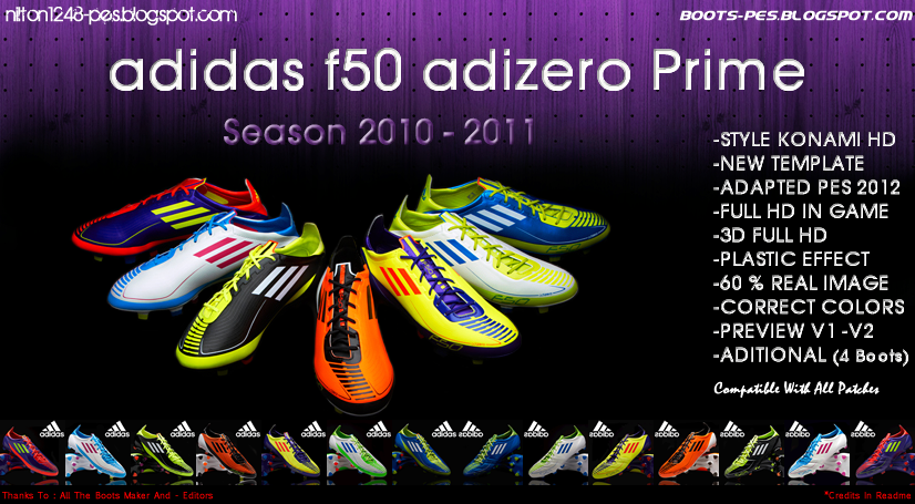 Pack Adidas f50 Adizero Prime Temporada 10-11 Full HD by Nilton1248
