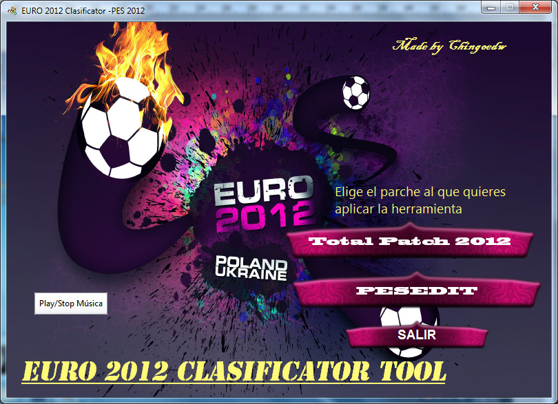EURO 2012 Clasificator-Tool by Chingoedw