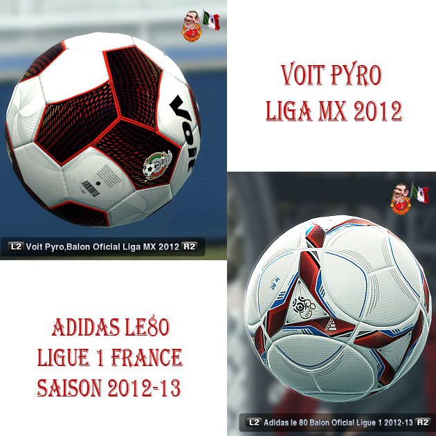 Voit Pyro Liga MX + Adidas le 80 Ligue1 by skills_rooney