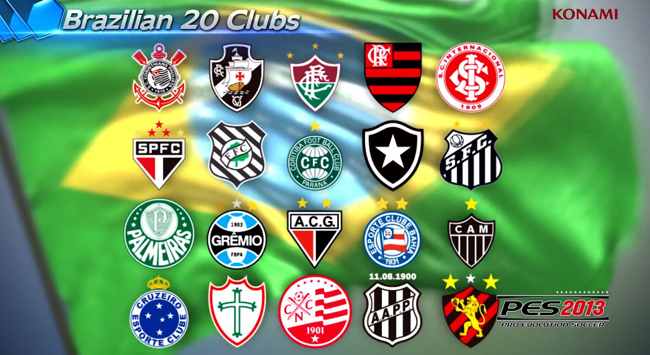La liga brasileña estará en PES 2013