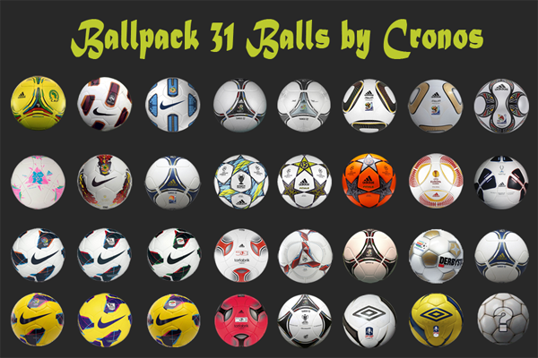 Ballpack 31 Balones by Cronos