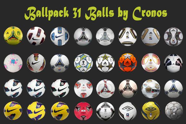 Ballpack 31 Balones by Cronos