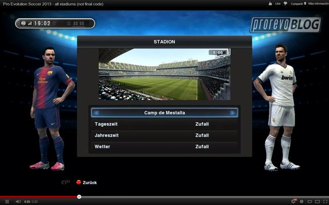 Un vistazo a los estadios de PES 2013