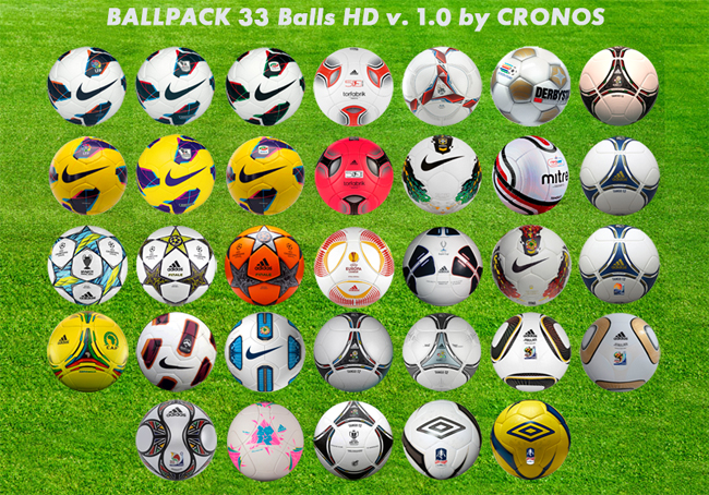 Ballpack 33 Balones HD v1.0 by cronoshack