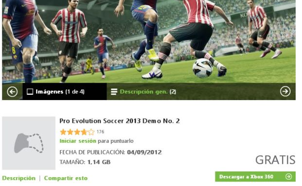 Segunda Demo de PES 2013 disponible para XBOX 360