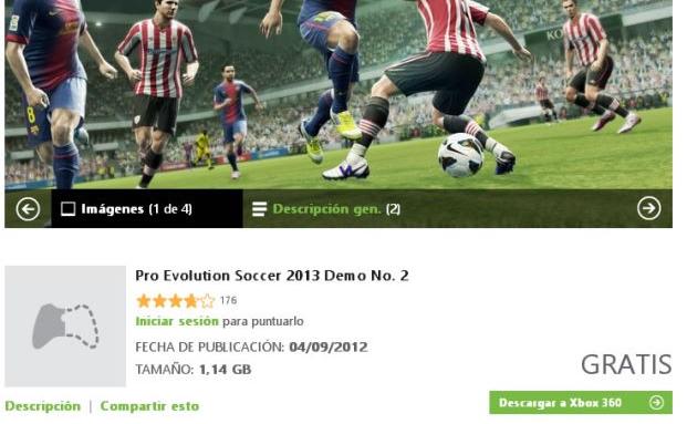 Segunda Demo de PES 2013 disponible para XBOX 360