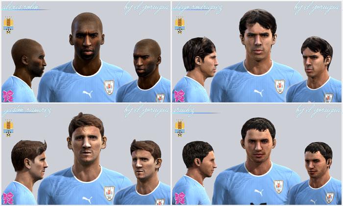 Uruguay Sub-23 Facepack by El Yorugua