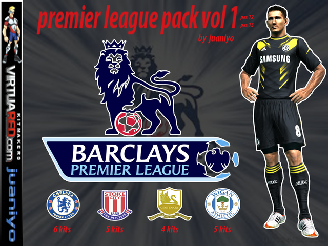 Premier League pack vol.1 kits by Juaniyo