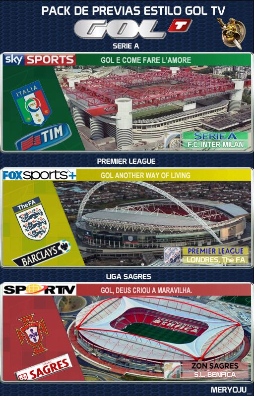 Pack previas estadios estilo GolTV by meryoju_