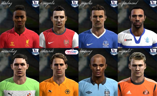Premier League Face Pack vol.5 by el yorugua