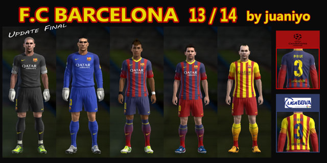 Mega GDB F.C Barcelona 13/14 – 38 kits full HD by Juaniyo