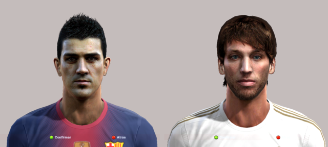 Faces David Villa & Michu by Djgabrix