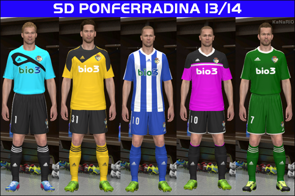 Kits SD Ponferradina 13/14 Update by KaNaRiO