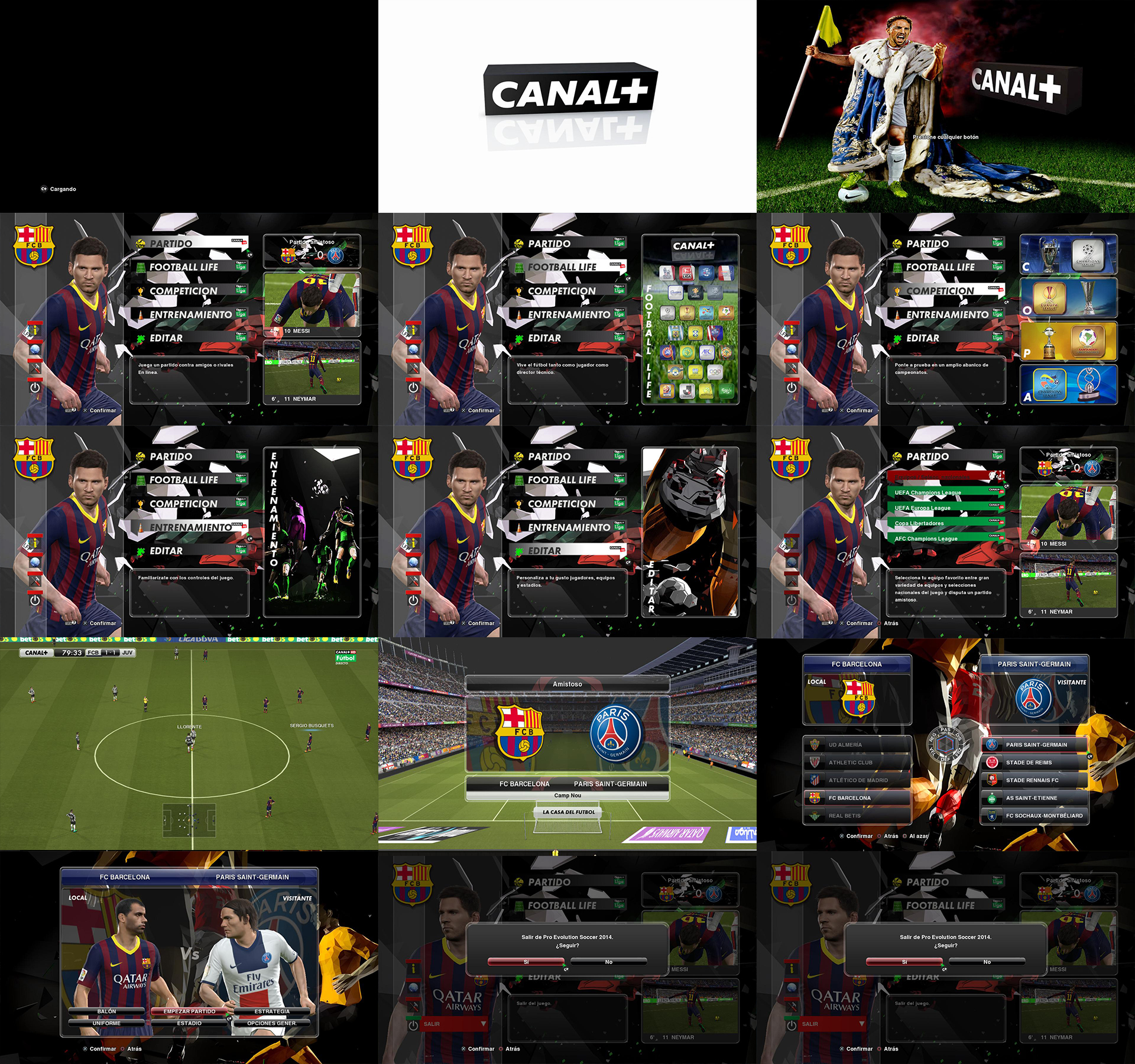 PES 2014 Canal + Graphic Mod by Meryoju
