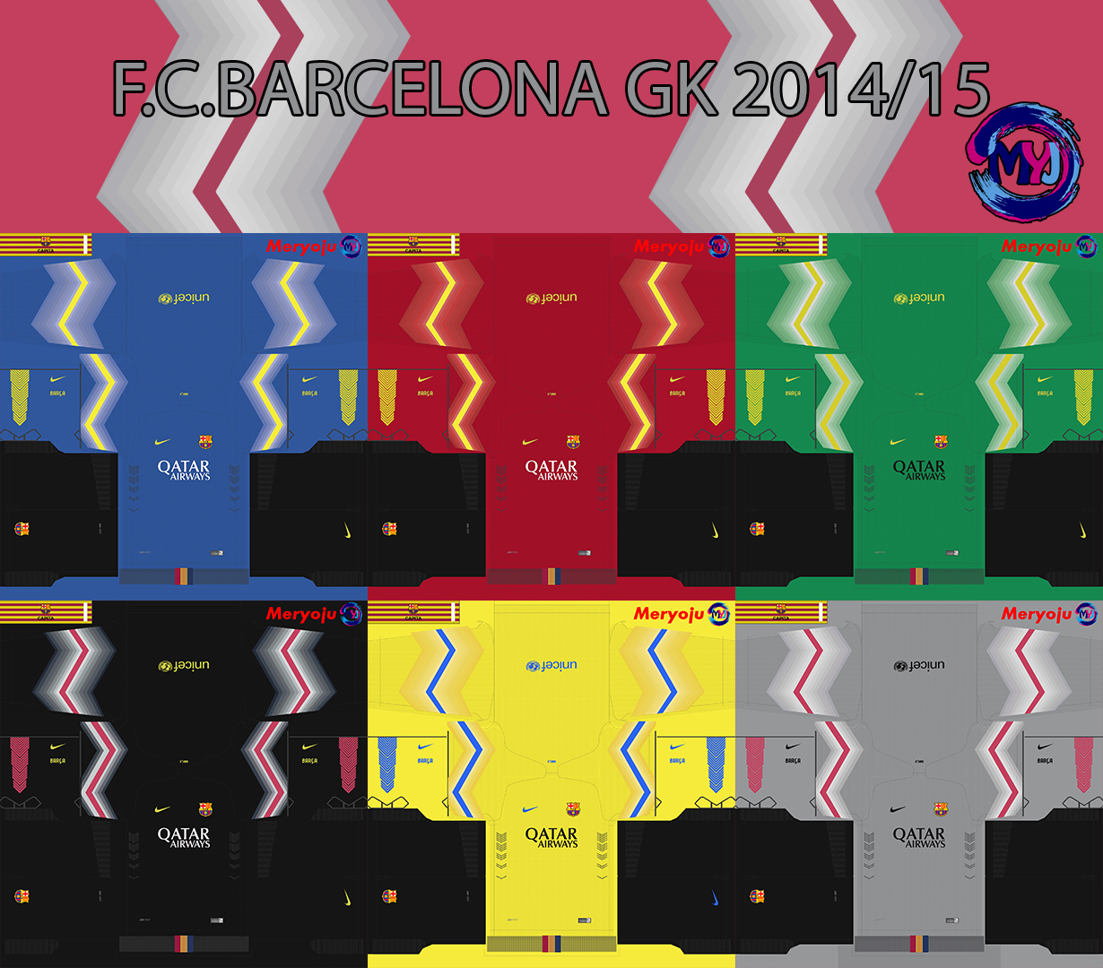 F.C.Barcelona kit pack GK by Meryoju