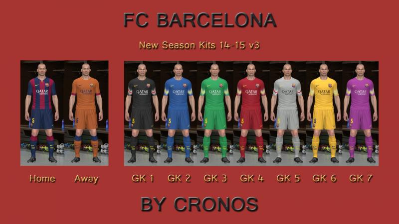 FC Barcelona 14-15 Kits v3 by Cronos