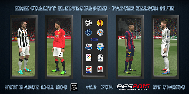 High Quality Sleeves Badges – Patchs Season 14/15 v2.2 by Cronos