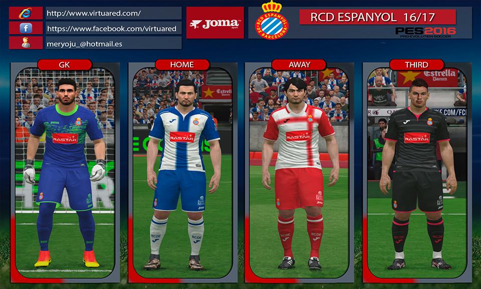 Kits RCD Espanyol 2016/2017 by Meryoju