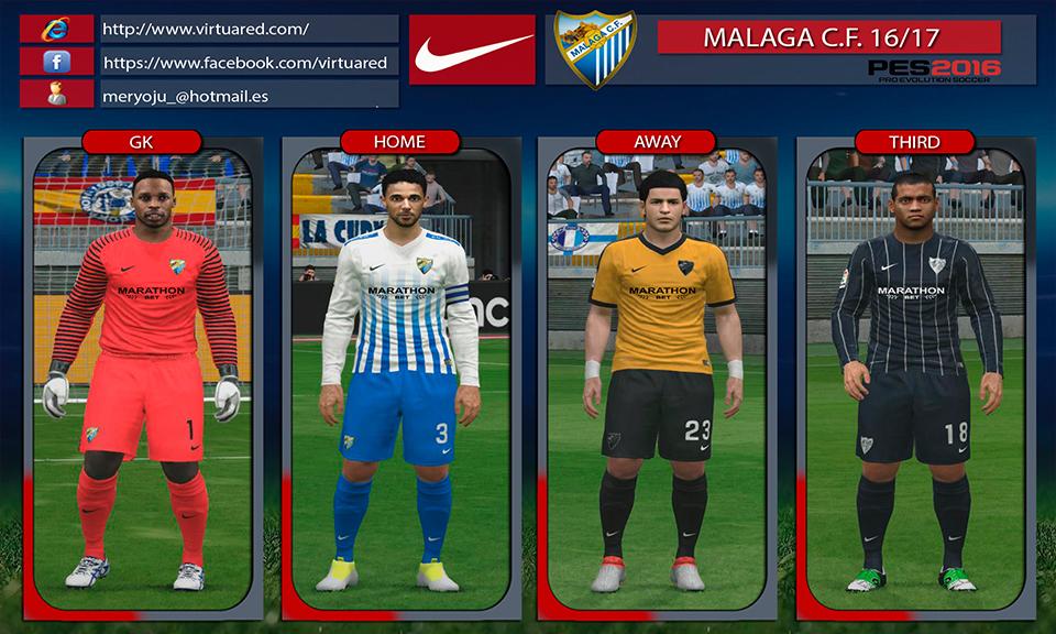 Malaga C.F. 2016/17 kits by Meryoju