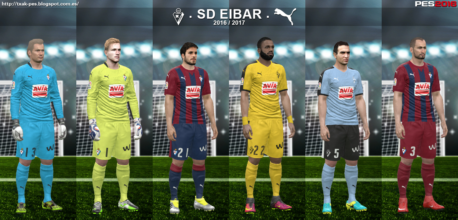 SD Eibar 16/17 kits by Txak
