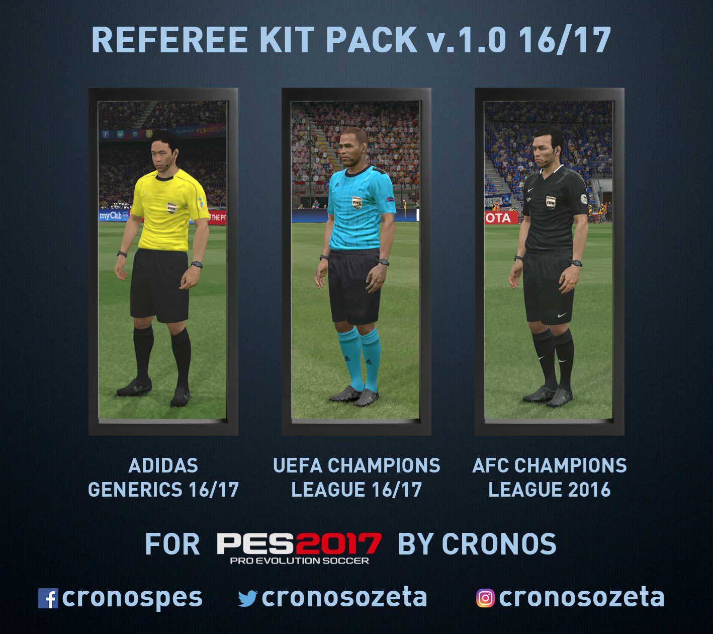 Kit pack de árbitros 16/17 v1.0 by Cronos