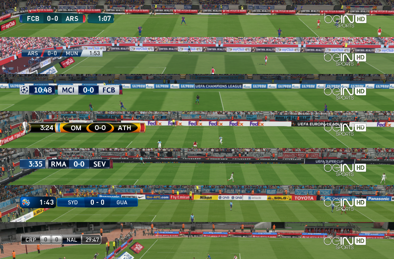 Default Scoreboards + TV Logo by Txak