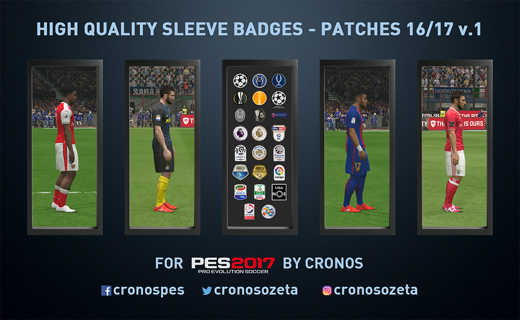High quality Sleeve badges by Cronos