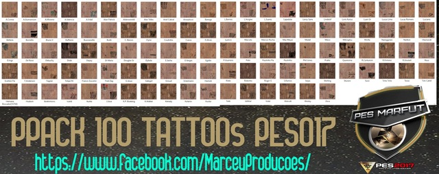 Pack 100 tatoos by Marcé