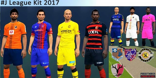 J League Kits 2017 by Praskitmaker