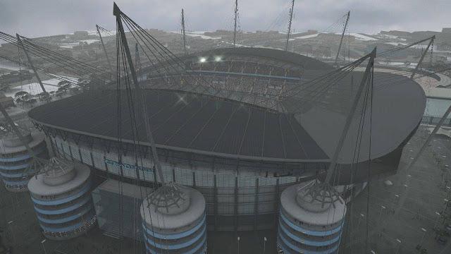 Fine day rain/fine night for stadium exterior by IsanFajar