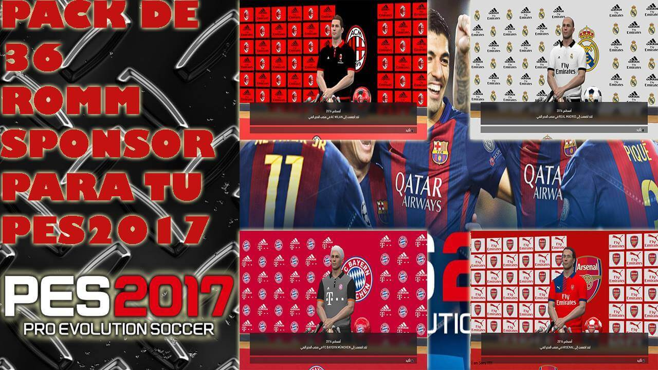 Pack de 36 Room Sponsors by Pes Parche Tutos